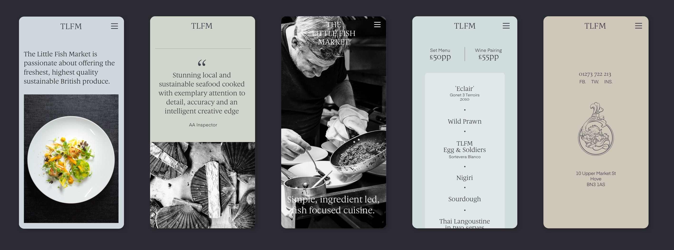 The Little Fish Market - Mobile Website Design