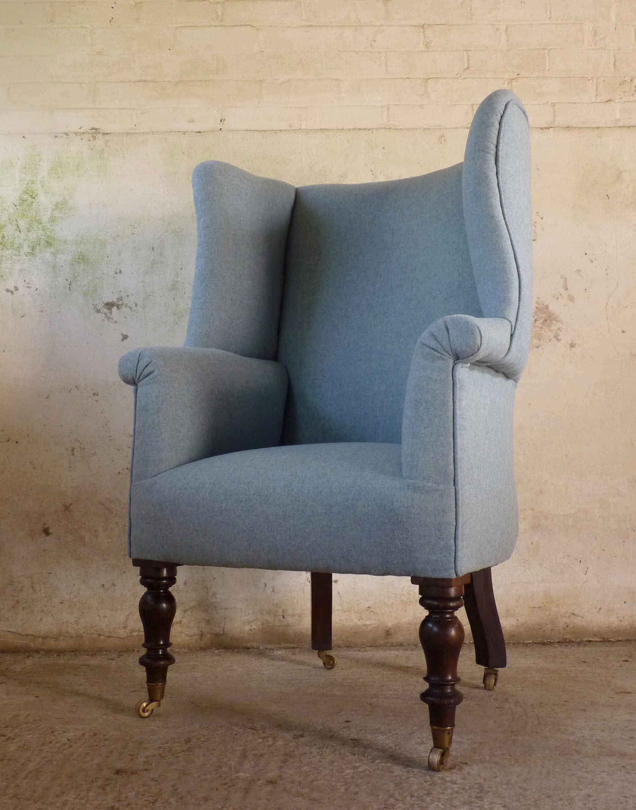 Elegant high victorian wingback armchair