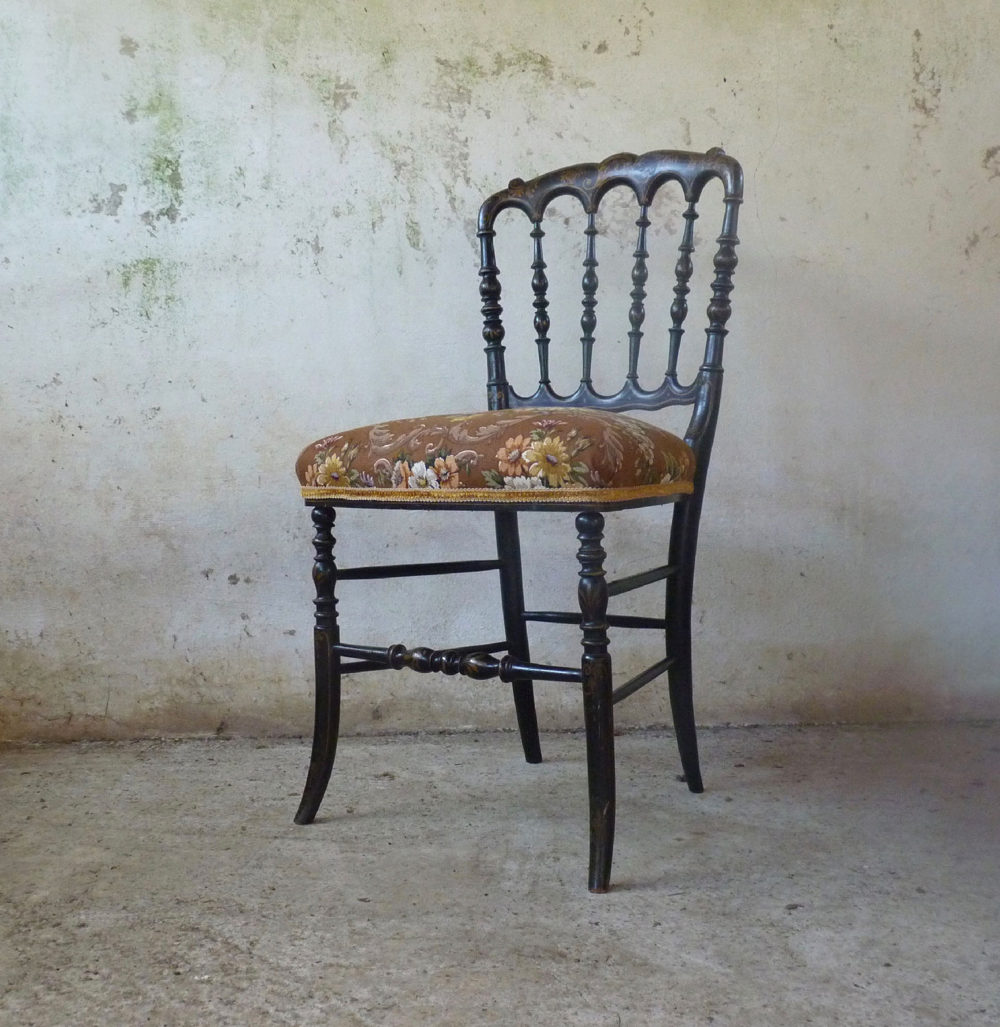 Decorative French occasional chair