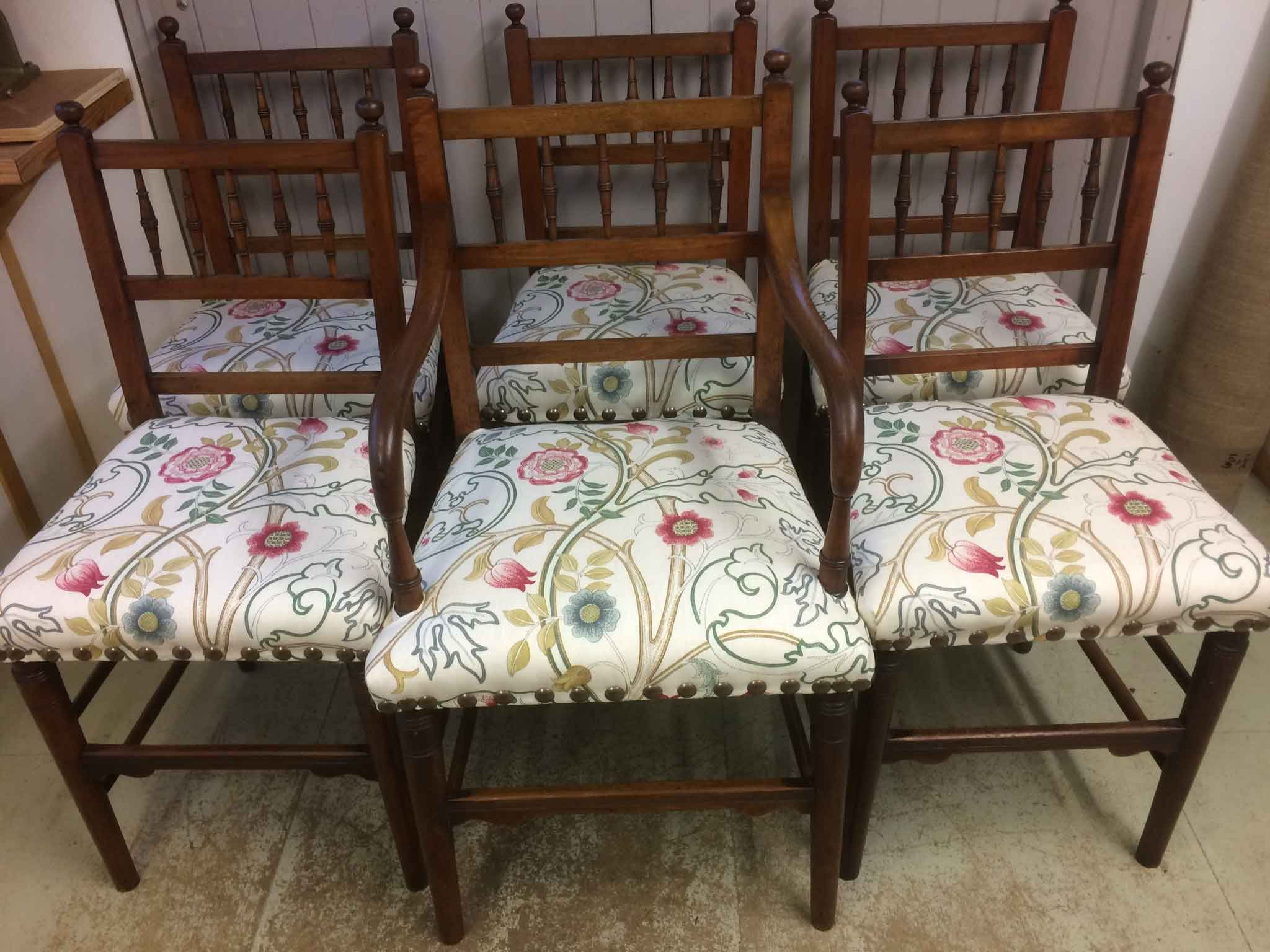 Arts and crafts style dining chairs