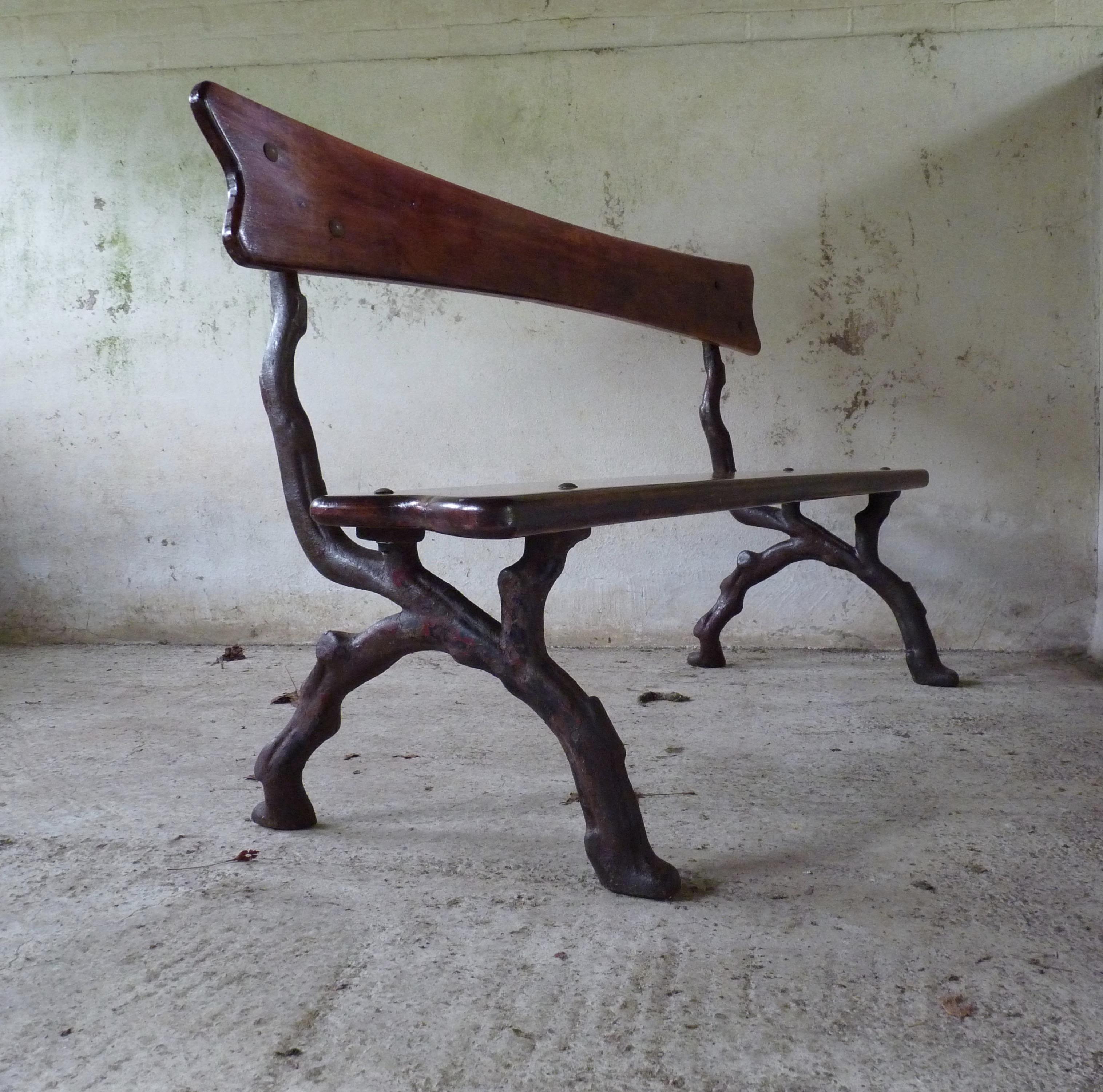 cast iron branch end decorative antique bench
