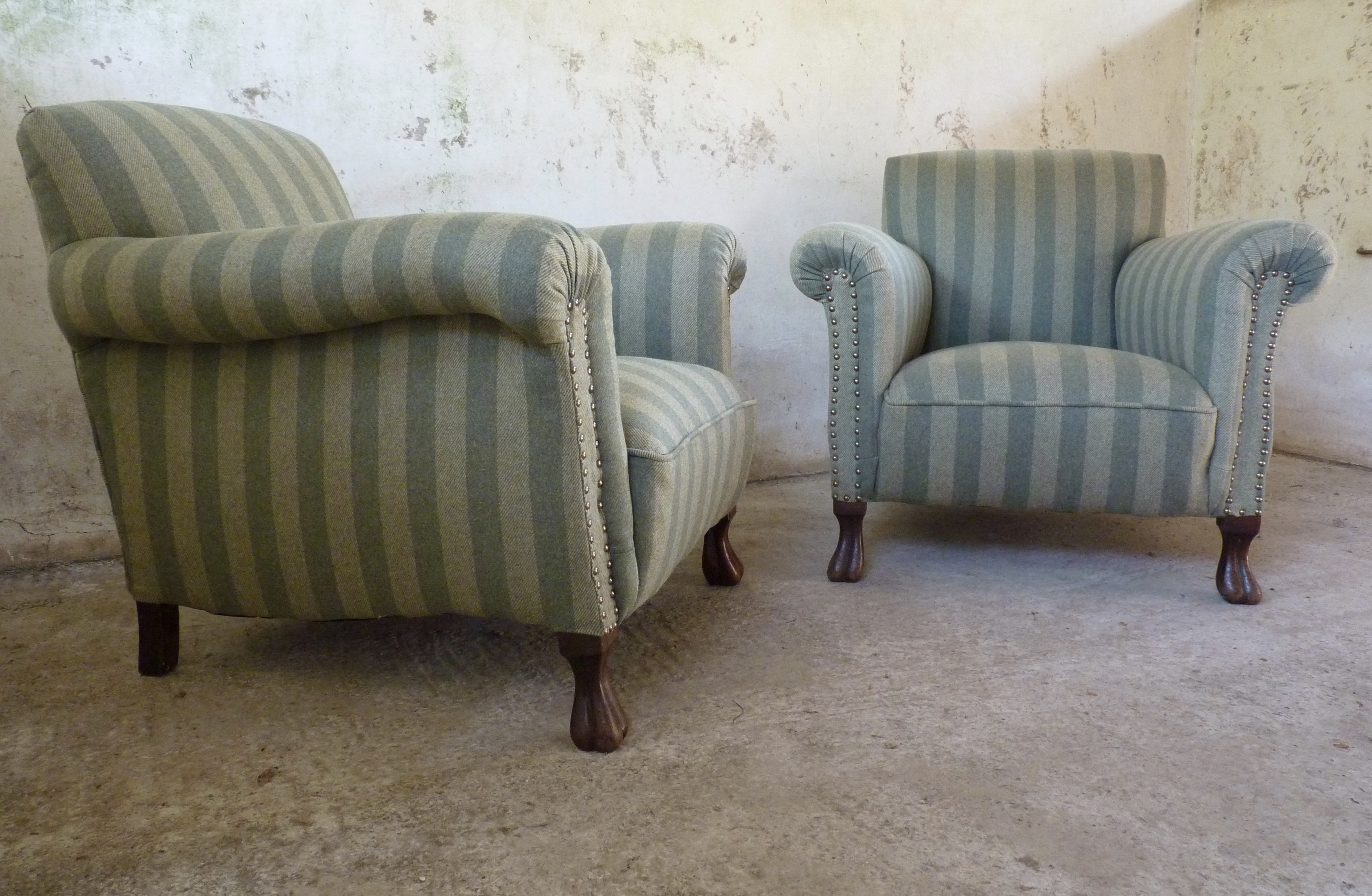 Pair of club armchairs