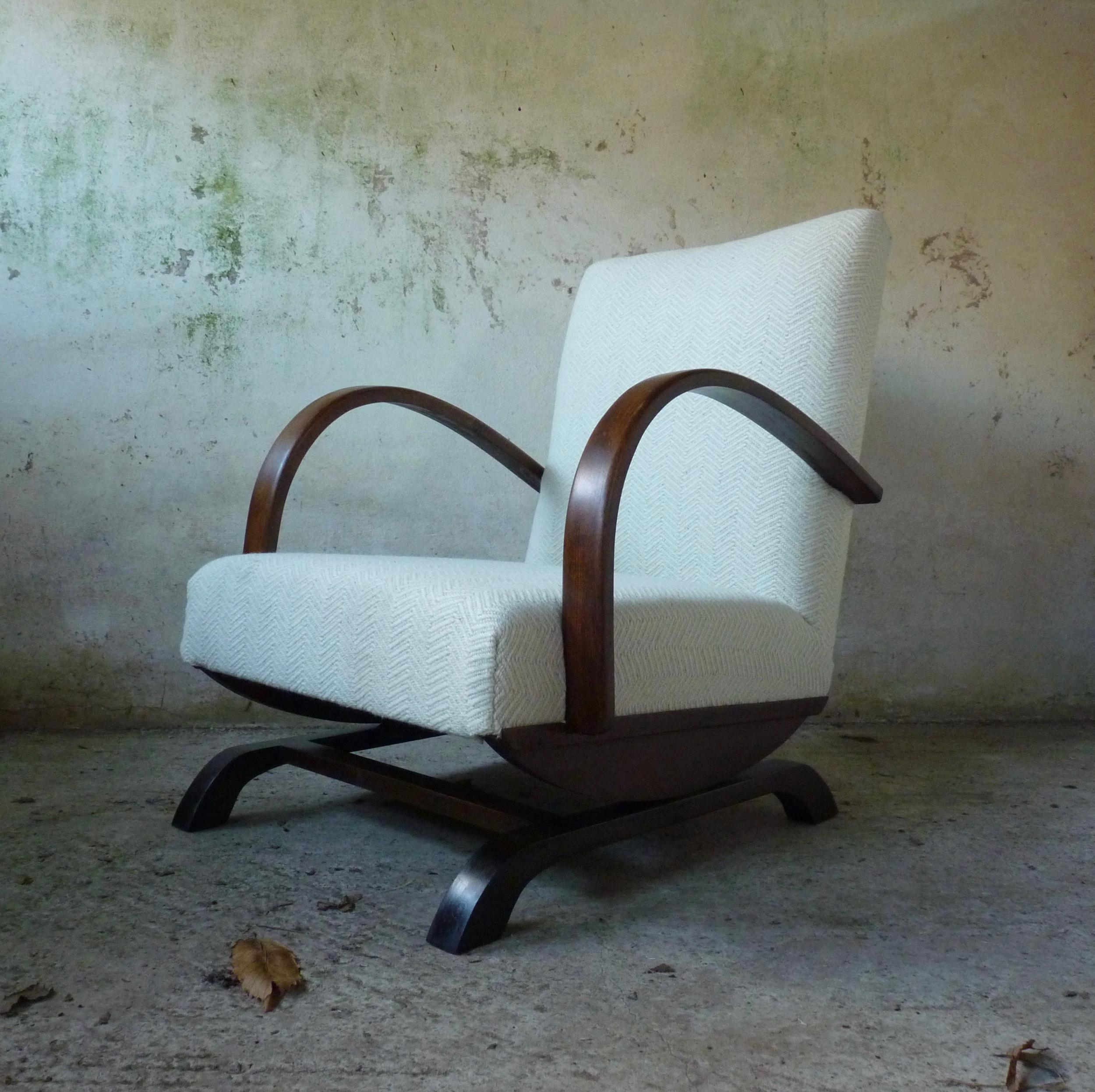 Mid century Halabala style platform rocking chair