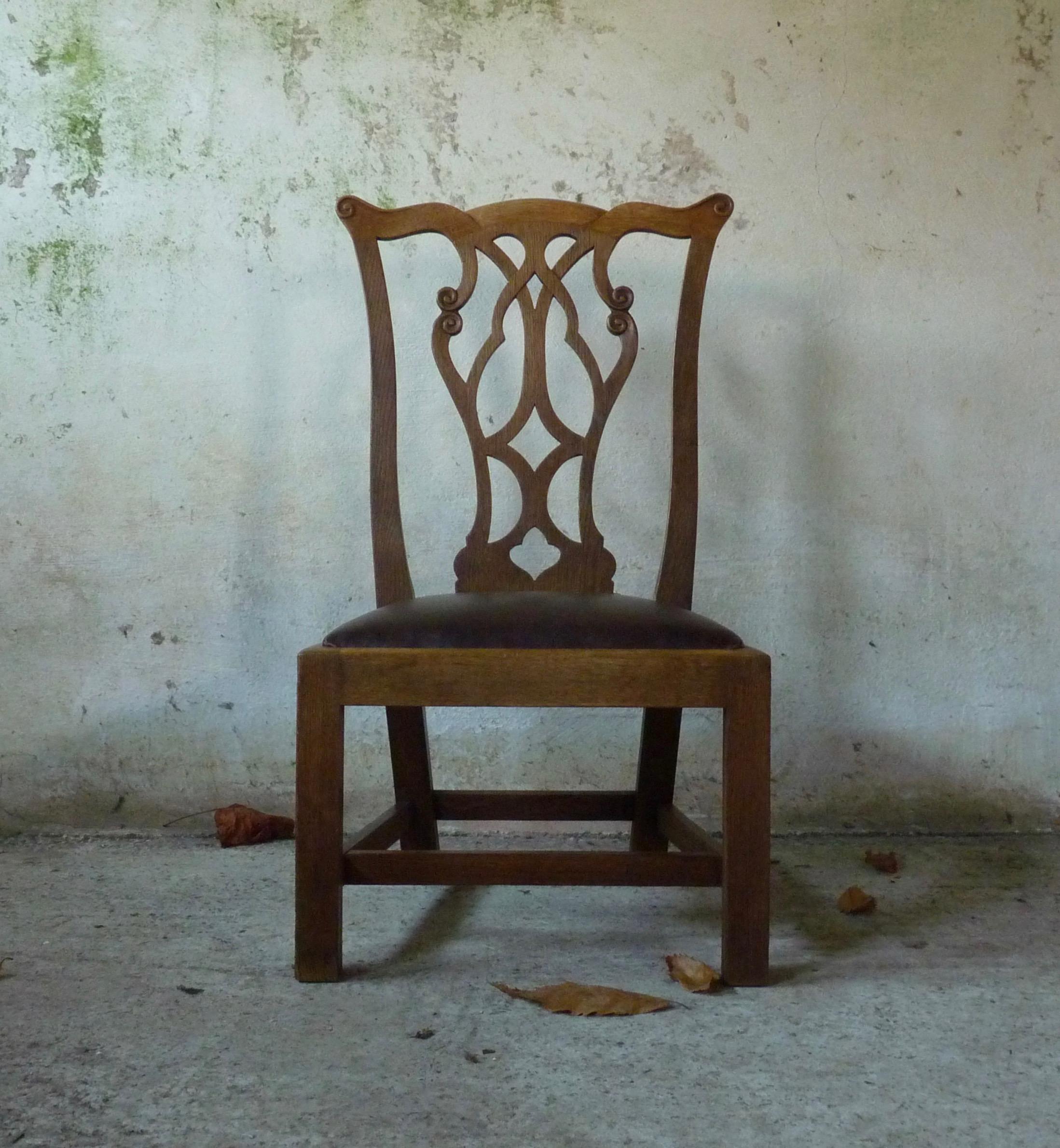 """Gossip"" chair by Wheelers of Arncroach, designed by Sir Robert Lorimer"