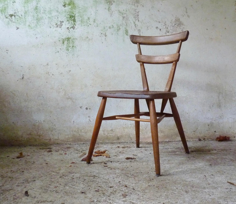 Ercol blue dot chair