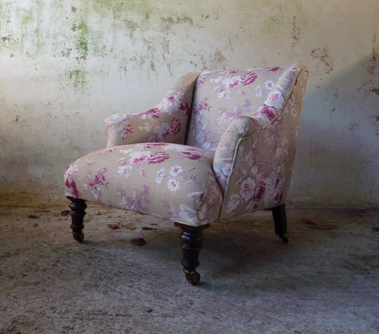 floral decorative armchair