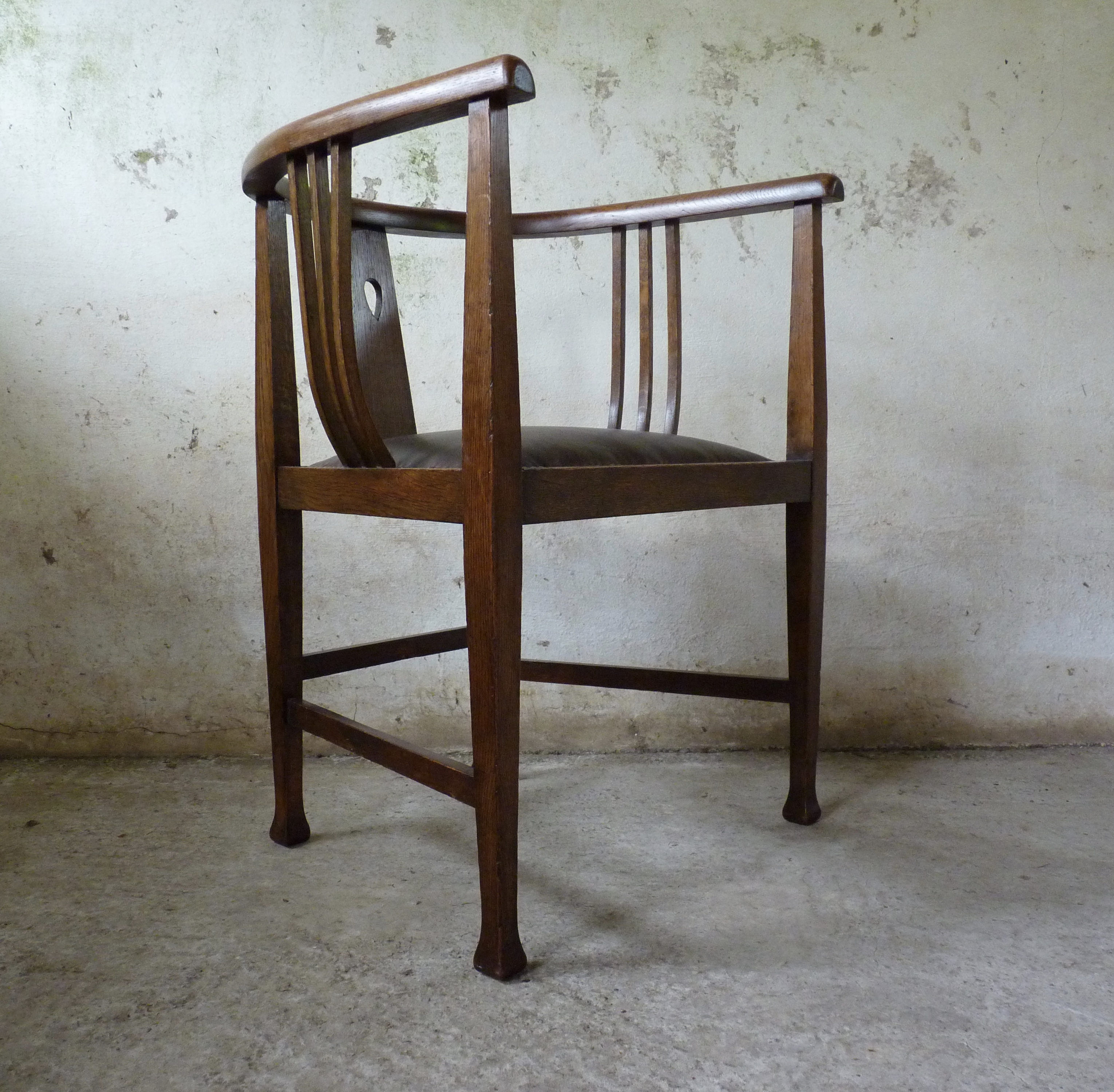Glasgow school arts and crafts tub chair designed by E A Taylor
