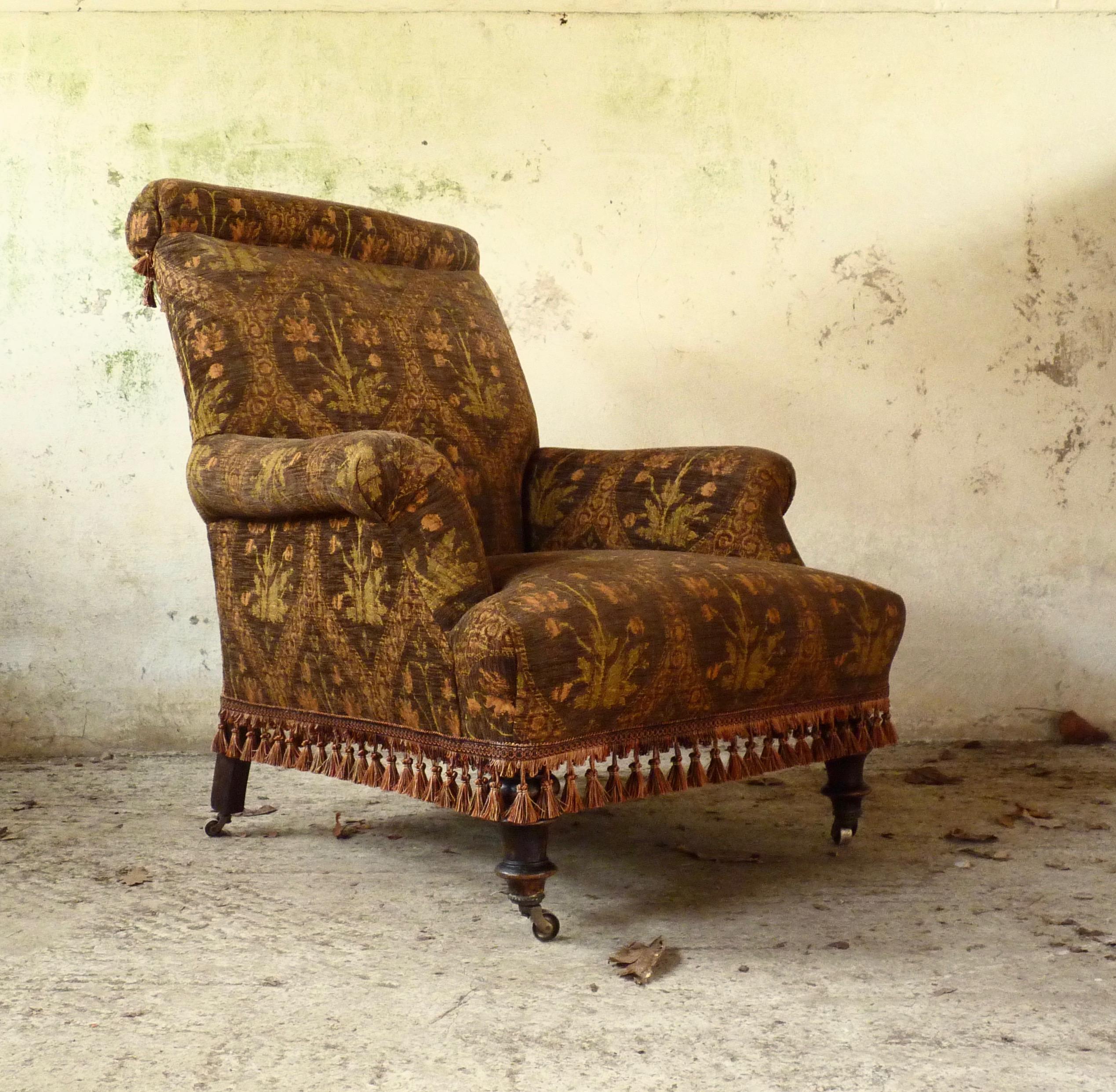 Bohemian rolltop armchair