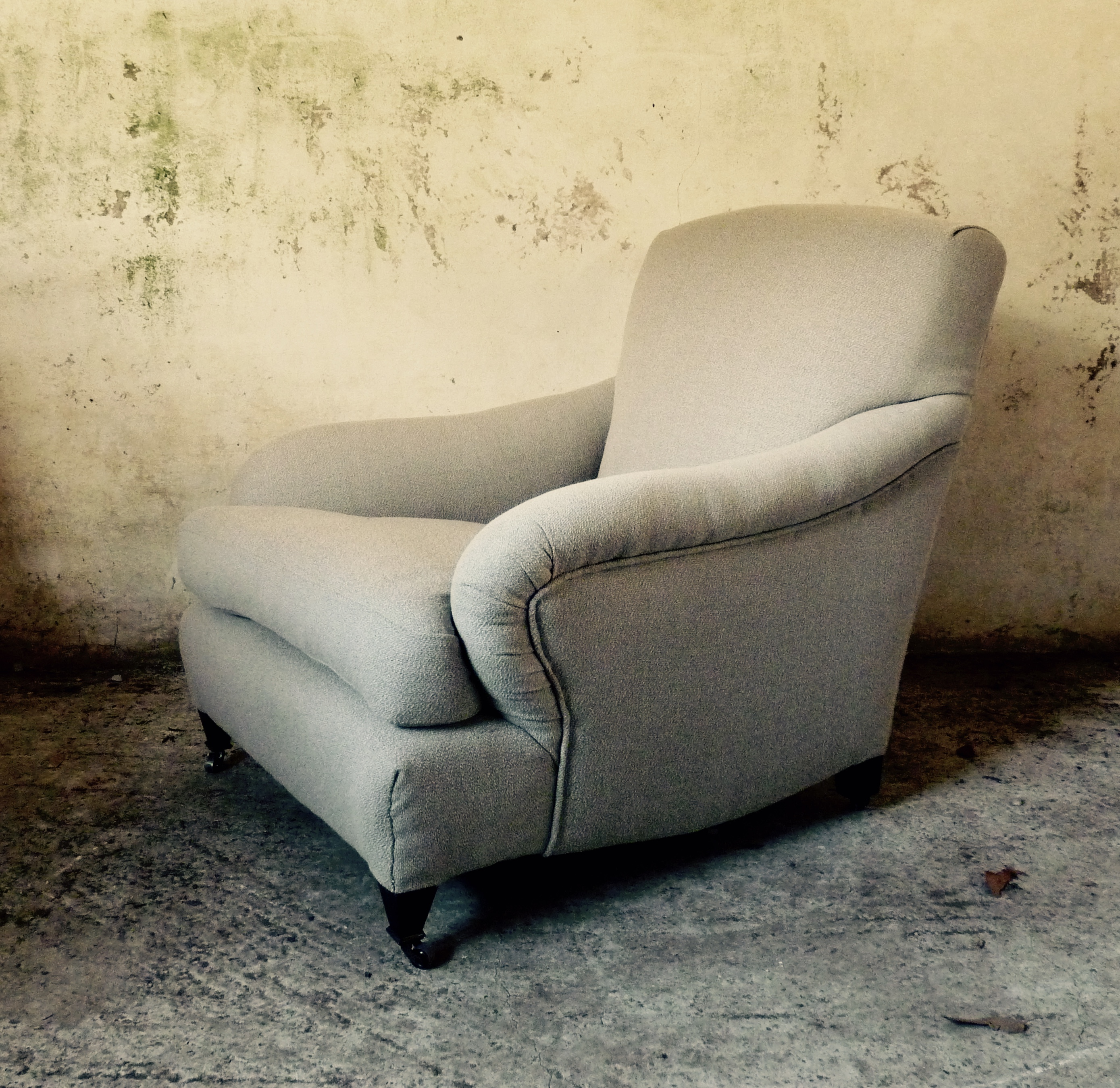 deep seated armchair in the manner of Howard and sons