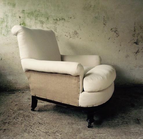 deep seated luxurious armchair