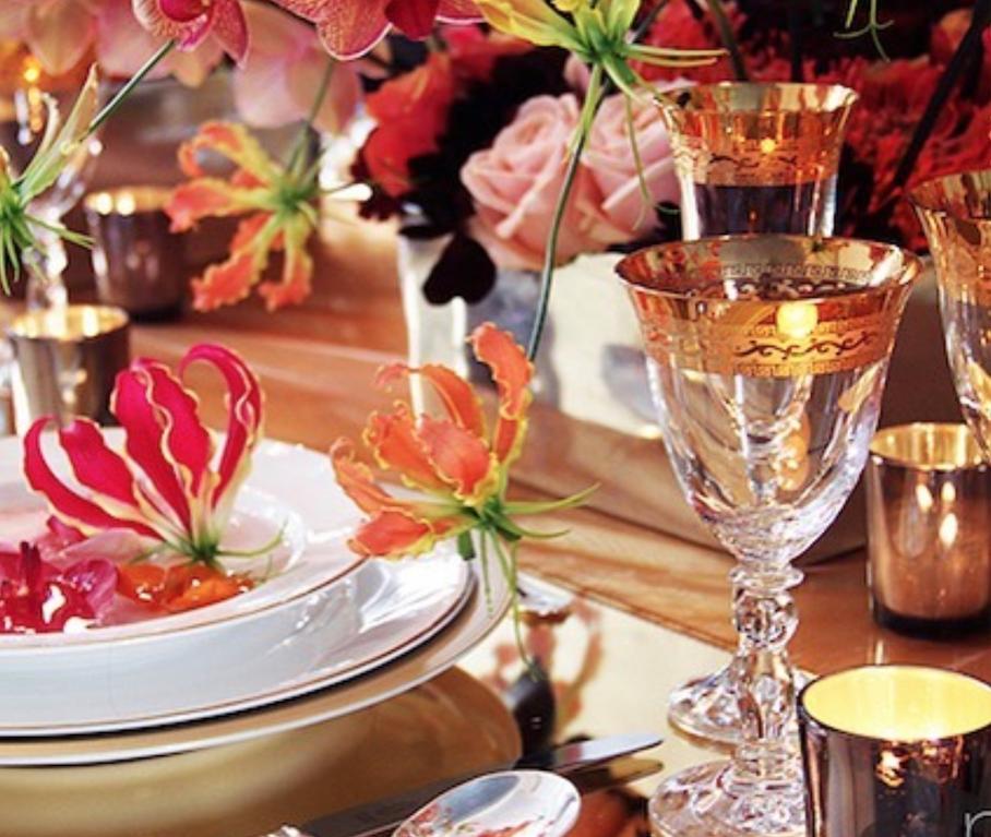 Decoracion floral cenas fiestas