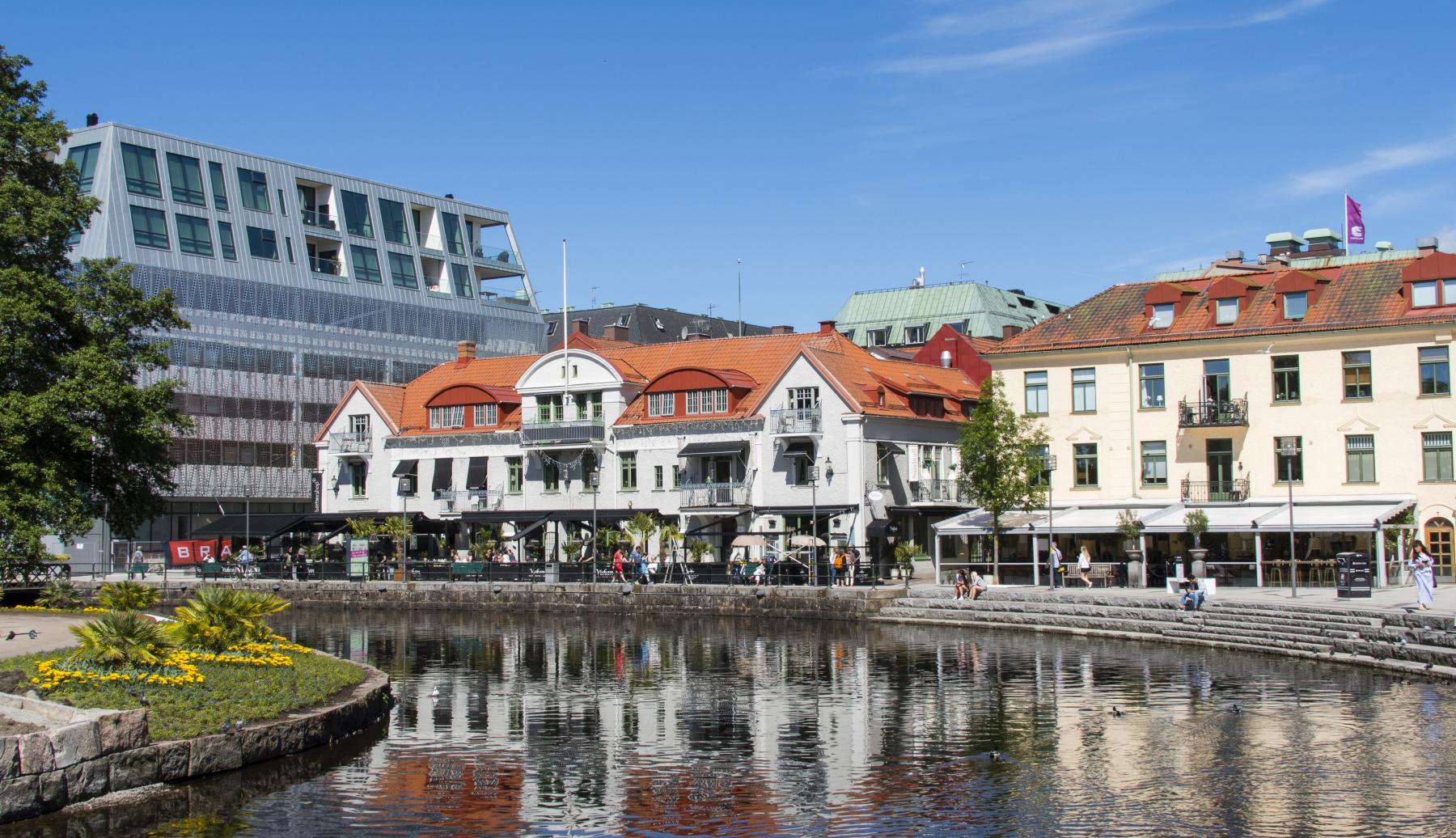 Borås stad vid kanalen
