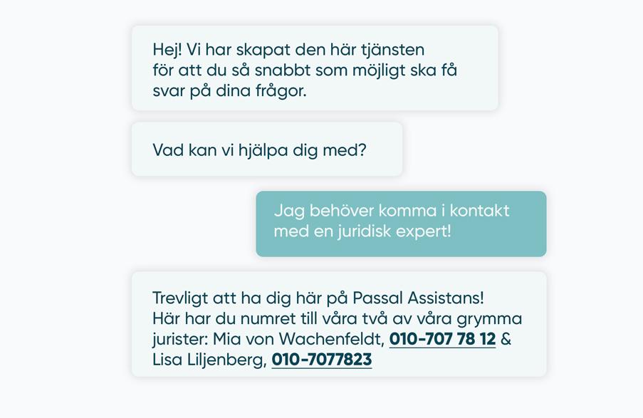 En chatkonversation mellan två parter