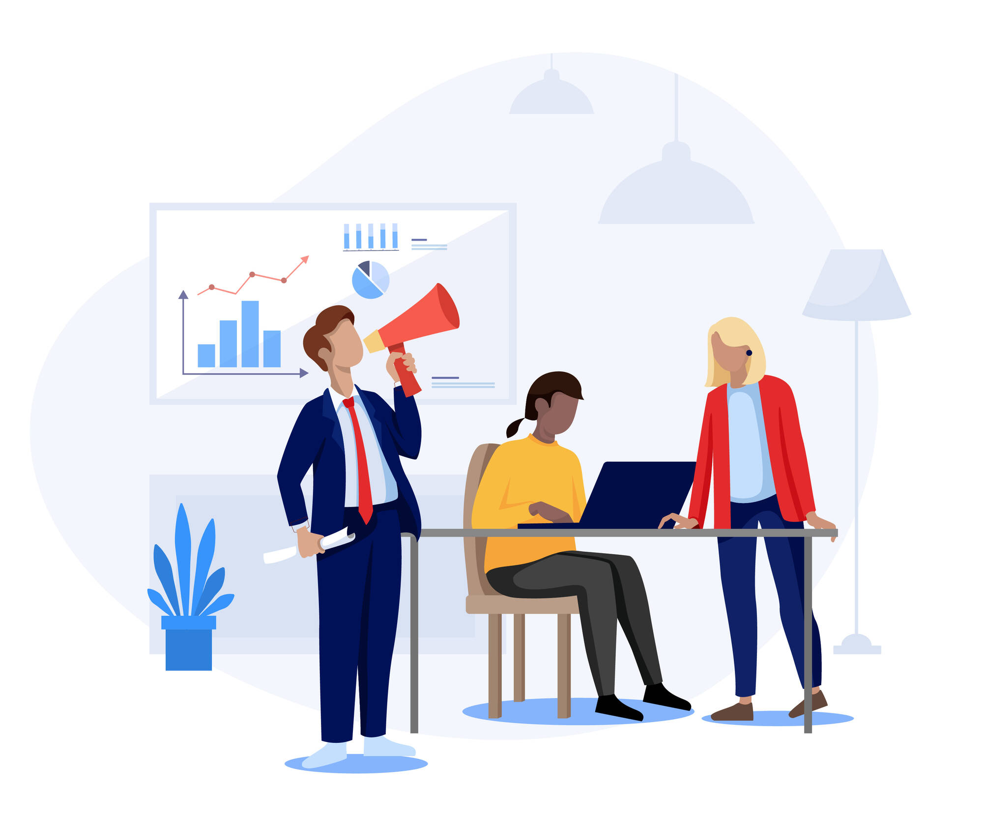 team optimizing digital marketing results
