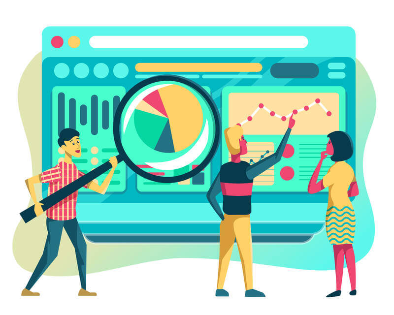 analyzing data and metrics