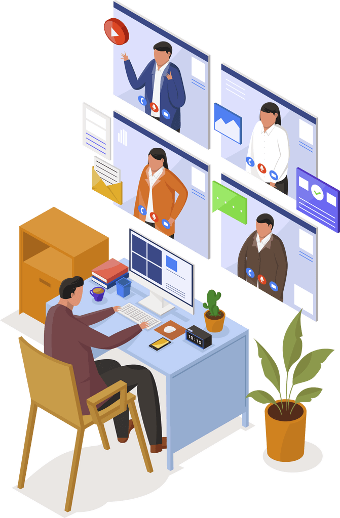 managing clients and customers online