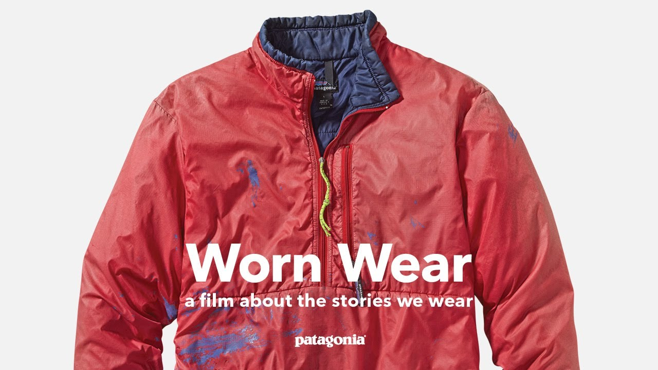 Still from Patagonia's Worn Wear series of storytelling. Stories about repairing your gear rather than replacing.