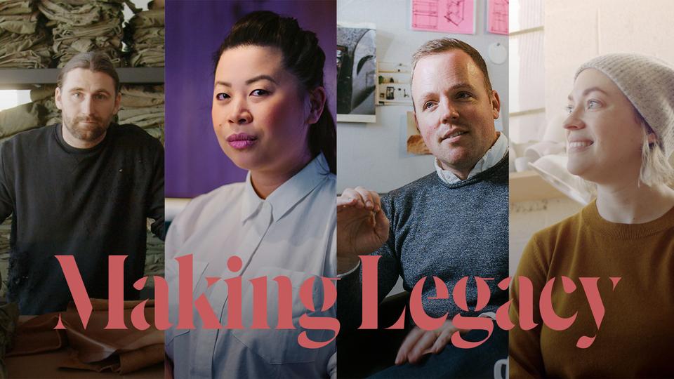 Hero image of Making Legacy, an original docu-series from People of Story featuring Stephen Kenn, Chef Mei Lin of Nightshade LA, Ratio coffee founder Mark Hellweg, and designer Lisa Jones of Pigeon Toe Ceramics.