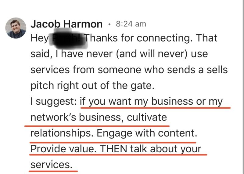 LinkedIn Sales Message