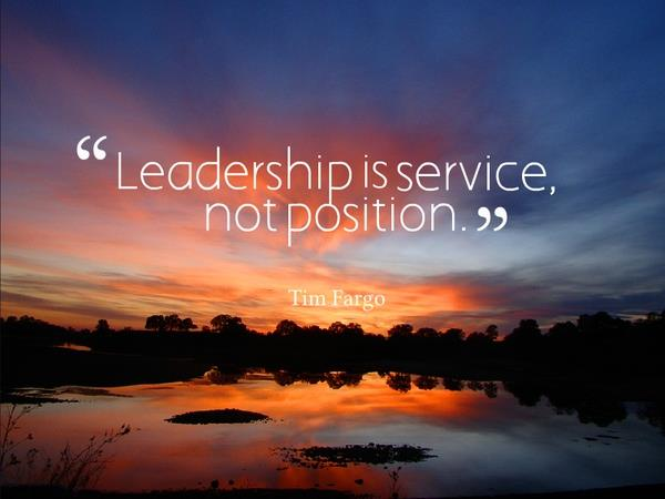 Leadership is service, not position. Sunset