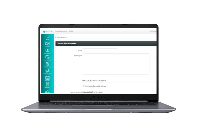 tela comunicados plataforma noknox