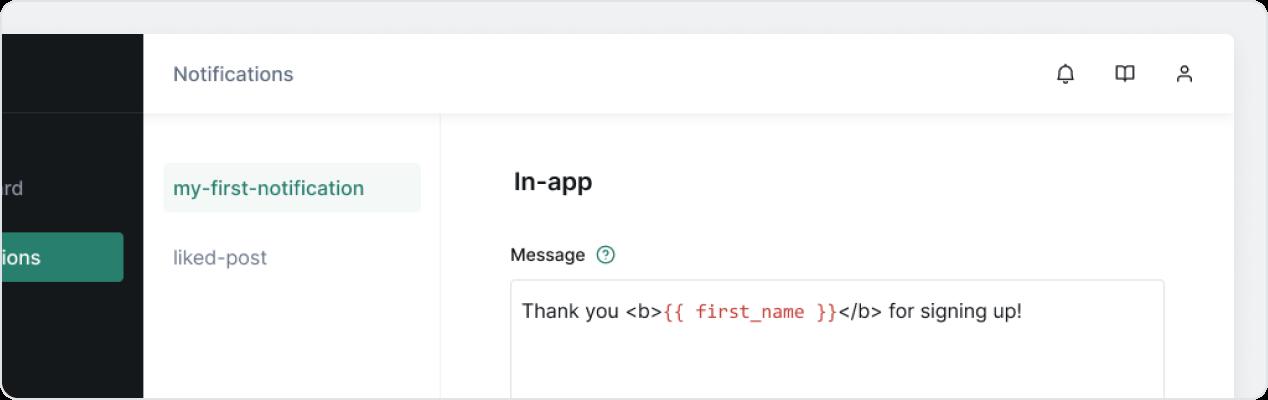 Notifly user interface