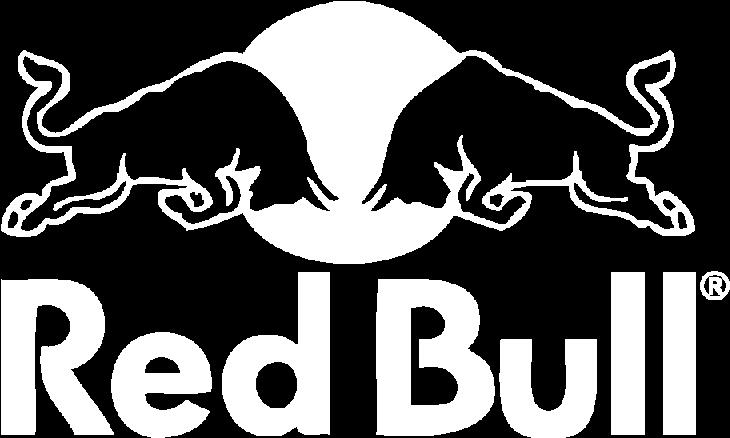 Red Bull logo white