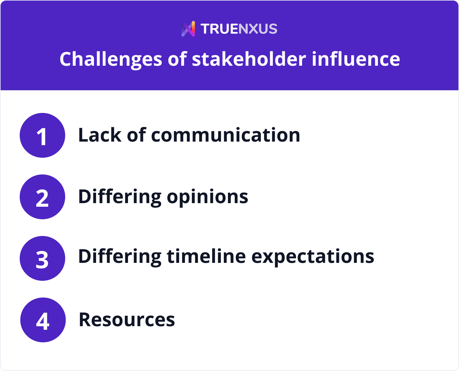 4 stakeholder influence challenges