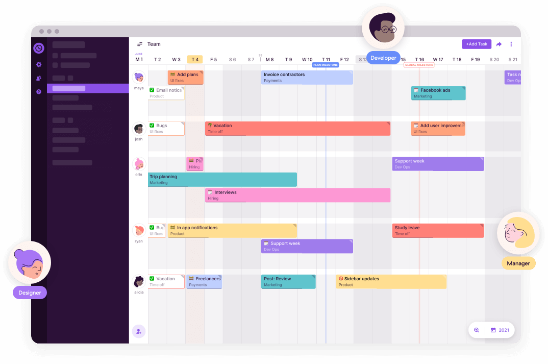 Toggl Plan free Gantt chart software