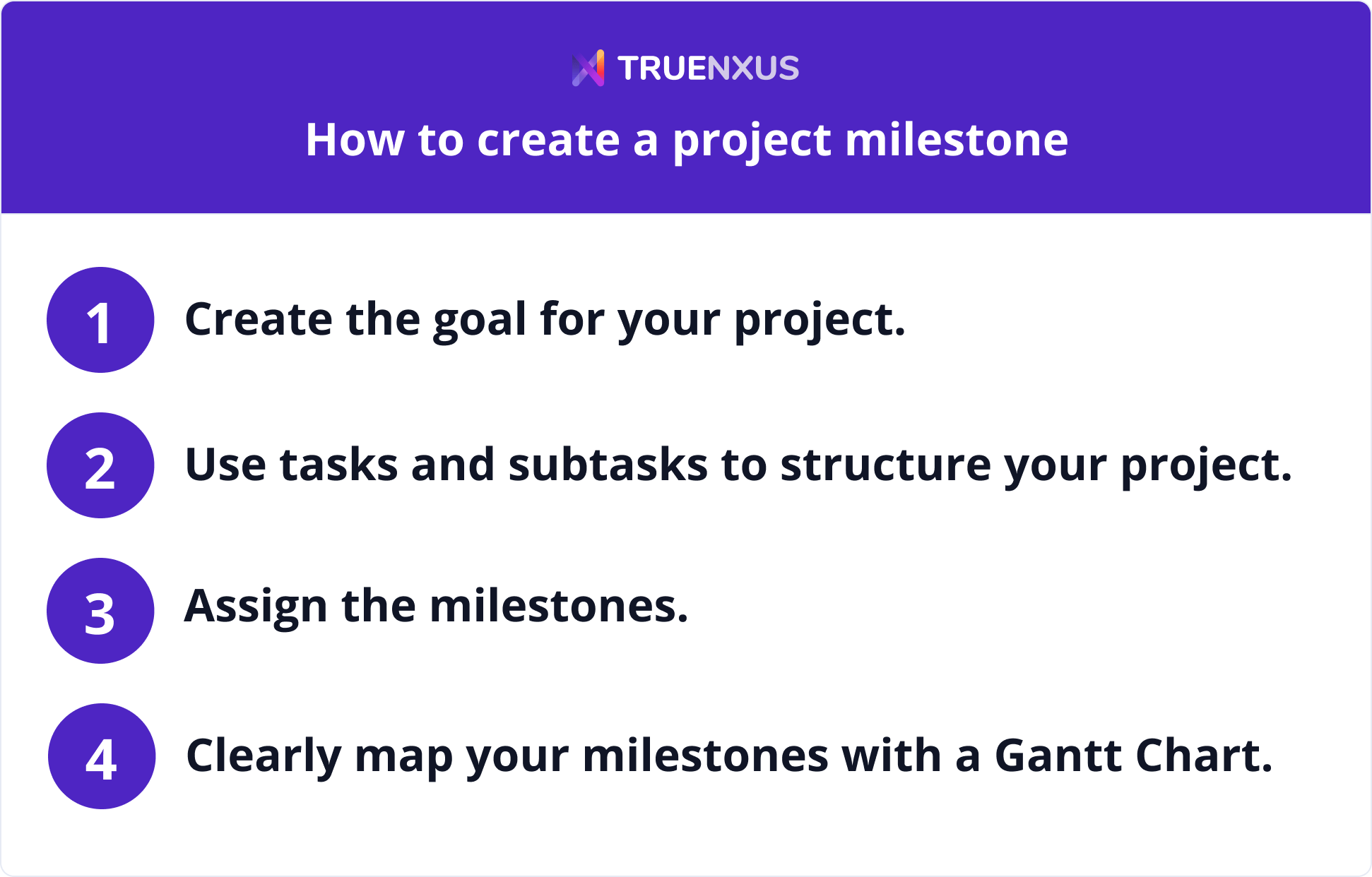 How to create a project milestone
