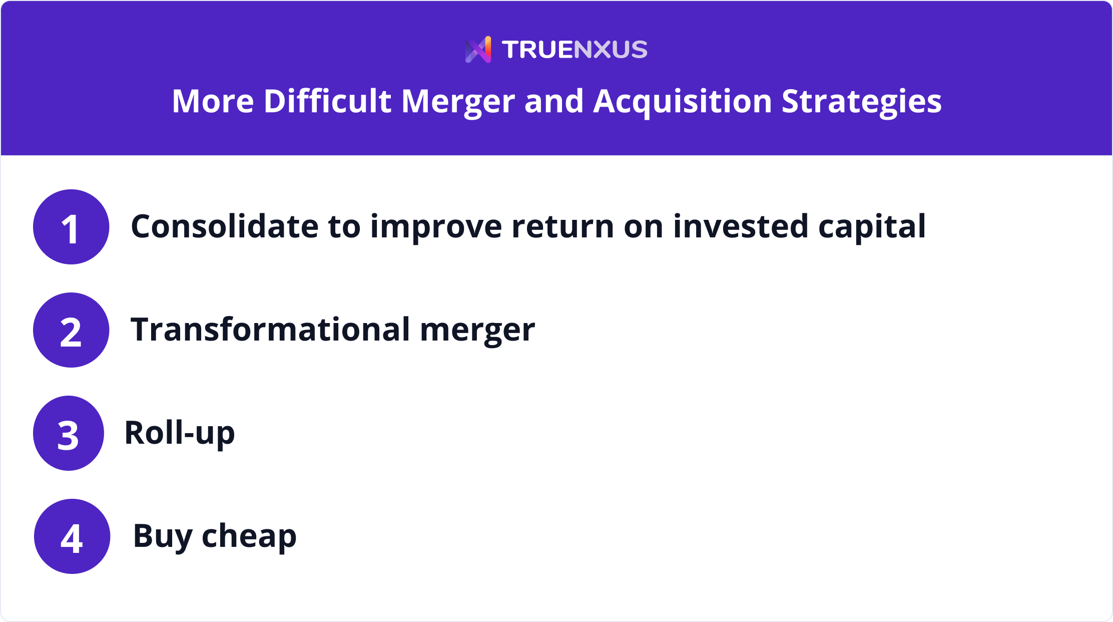 More difficult merger and acquisition strategies infographic