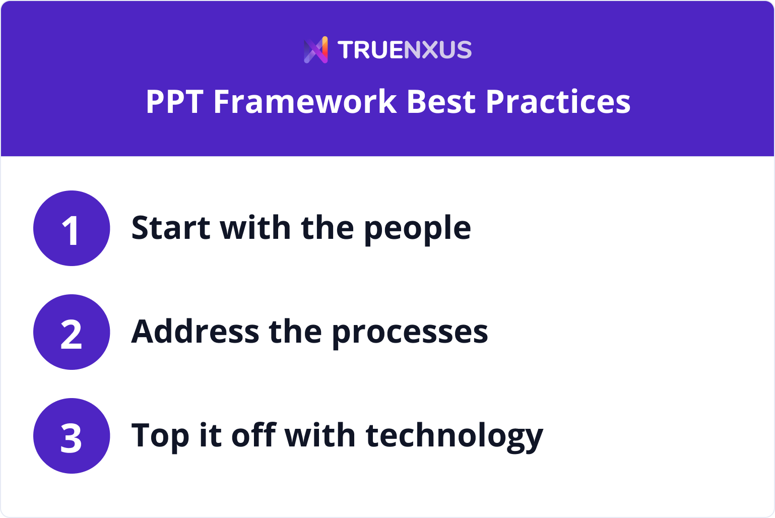 People Process Technology Framework Best Practices