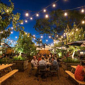 Photo of a beer garden