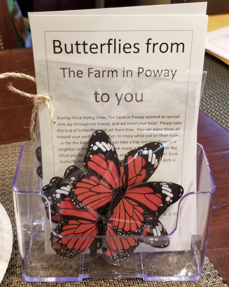 Butterflies from The Farm in Poway to you