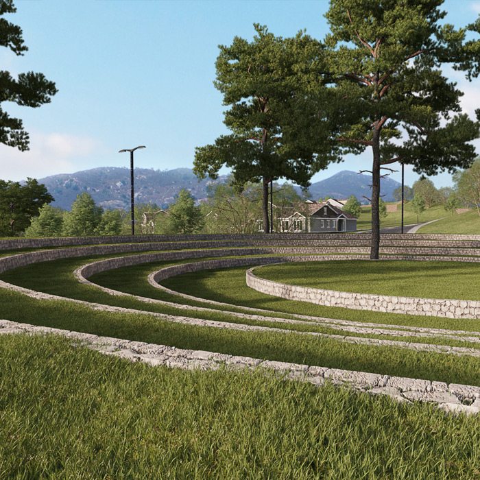 Photo of an outdoor amphitheater