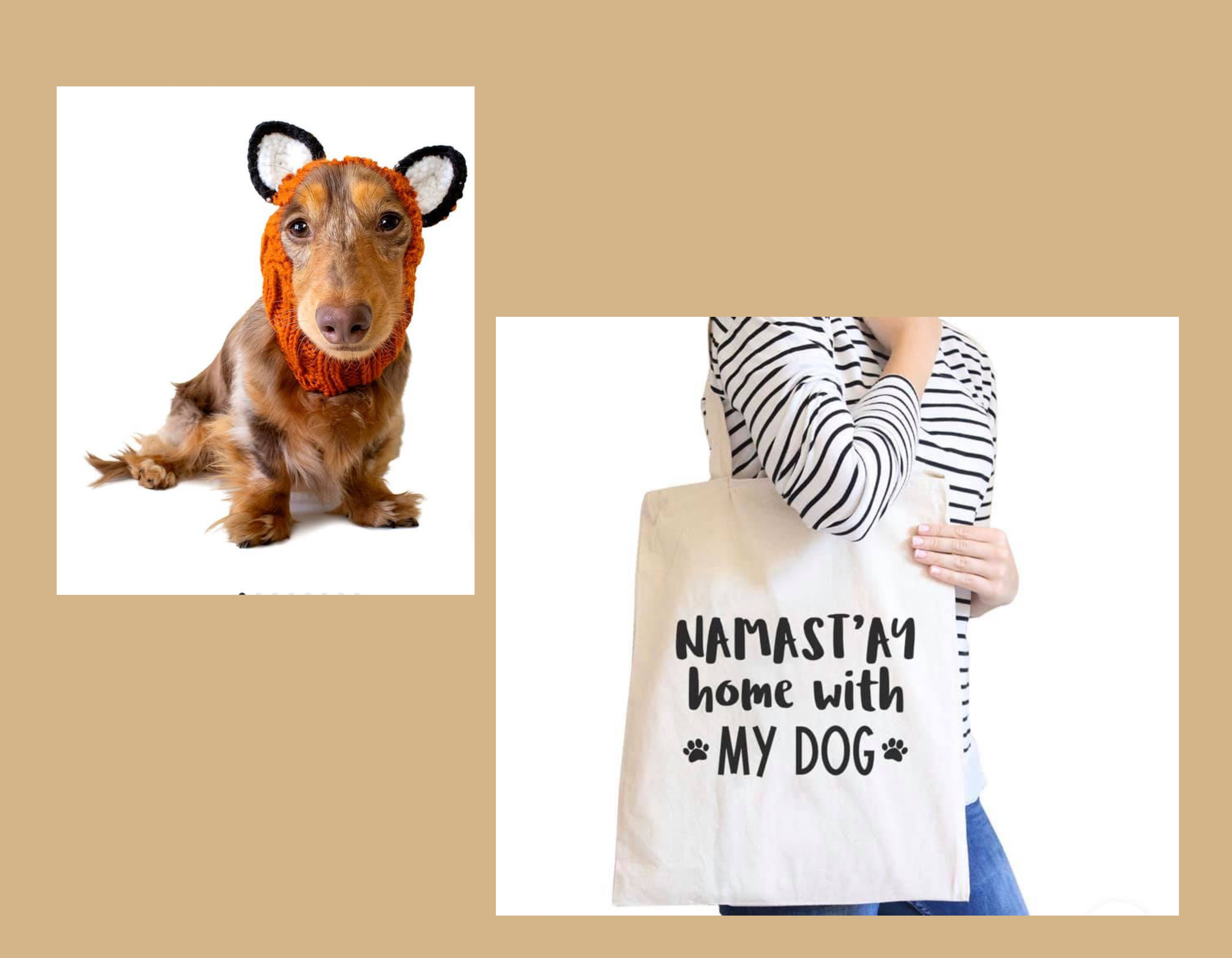 merch namaste home with my dog tote