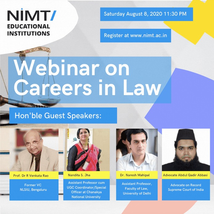Webinar on Careers in Law