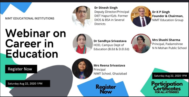 Webinar on Career in Education