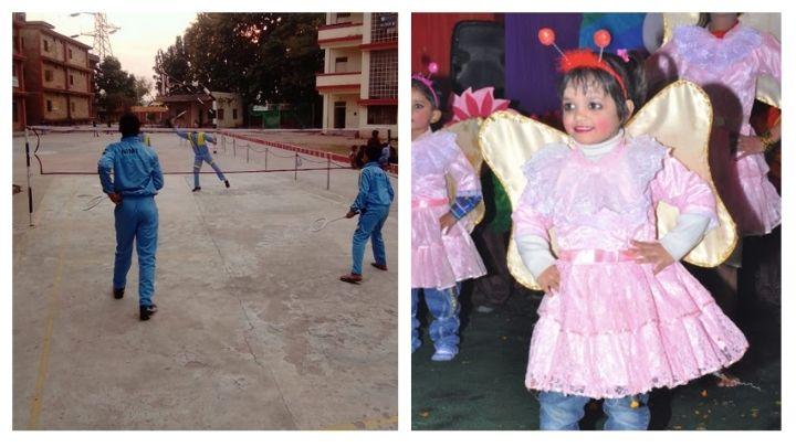 students playing badminton at nimt school avantika ii ghaziabad