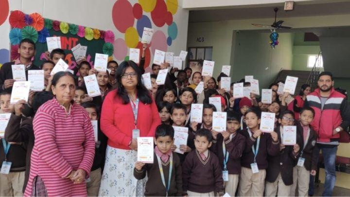 vaccination drive at nimt school avantika ii ghaziabad
