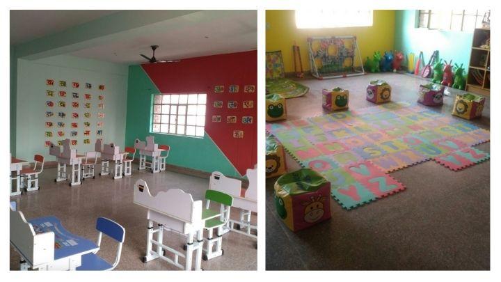 angelitos play school classrooms at nimt school ghaziabad
