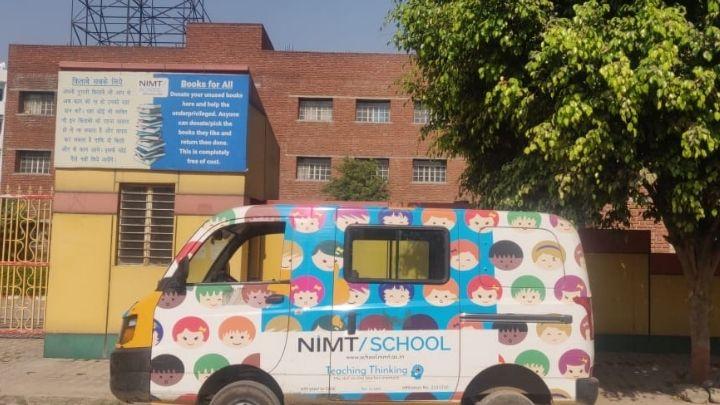 nimt school transport faciltiy at nimt school ghaziabad