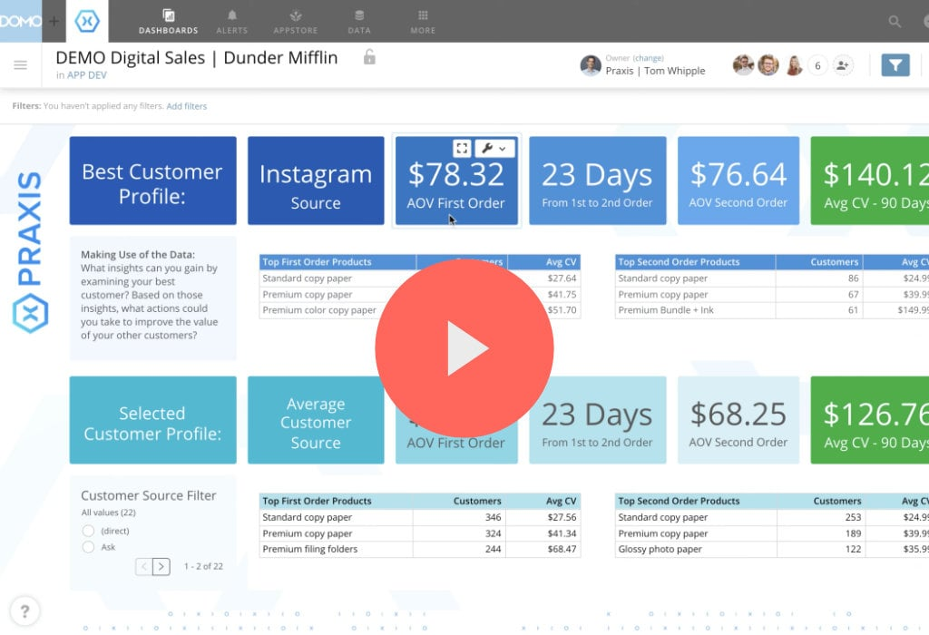 Click to watch Digital Sales Dashboard reports