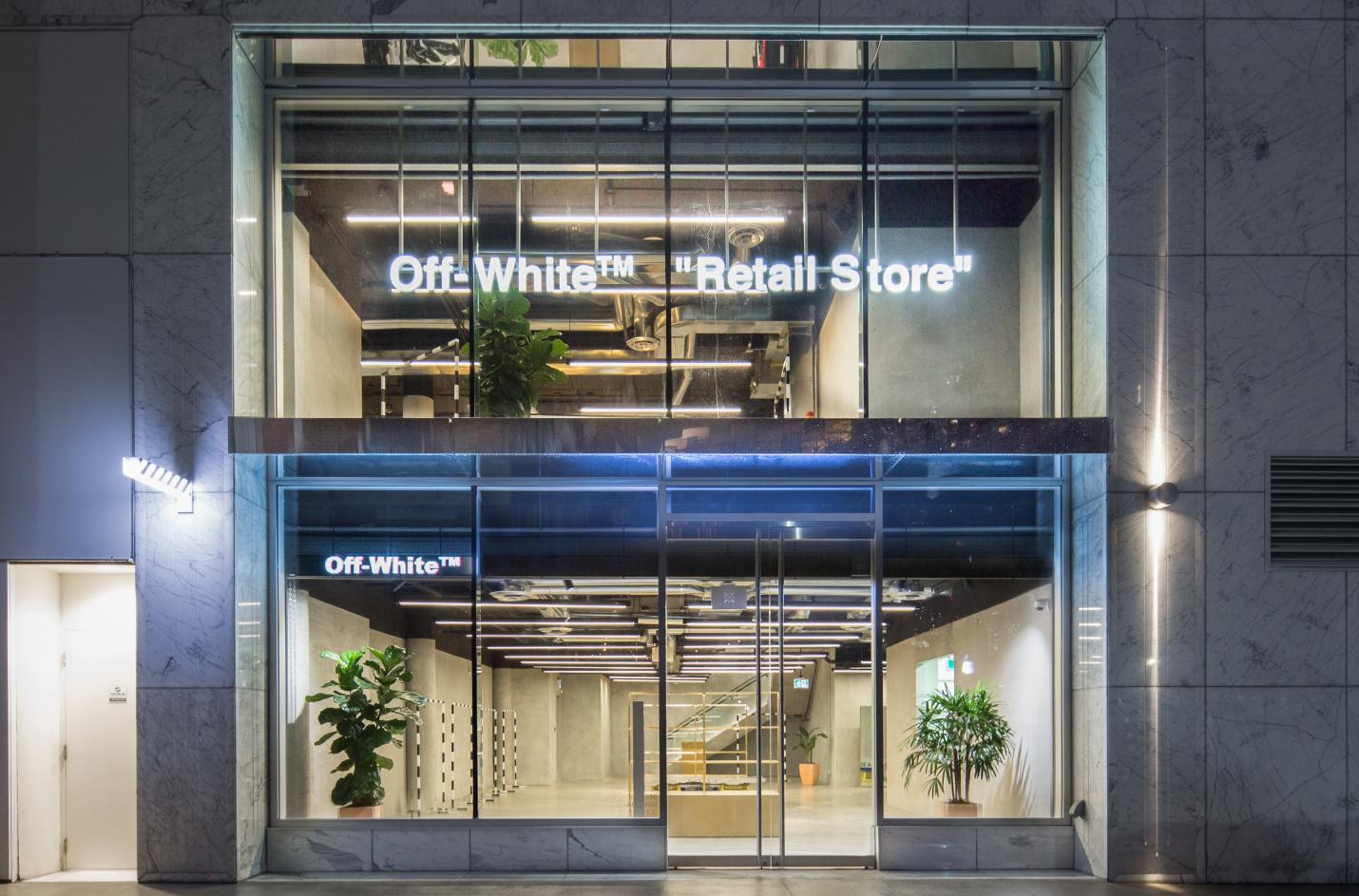 Offwhite store exterior