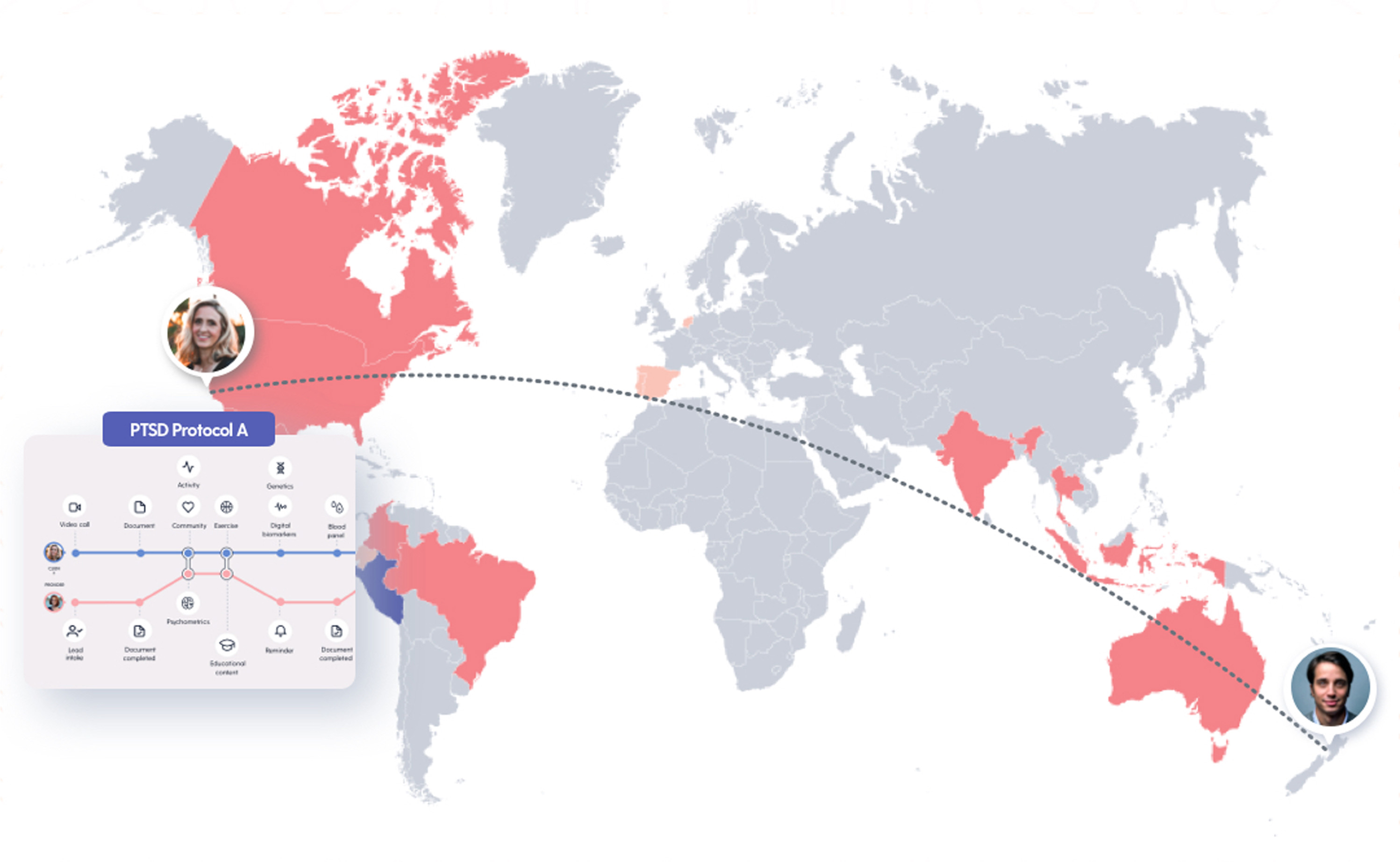Maya Health Thumbnail showcasing the our Global Learning section of our software.