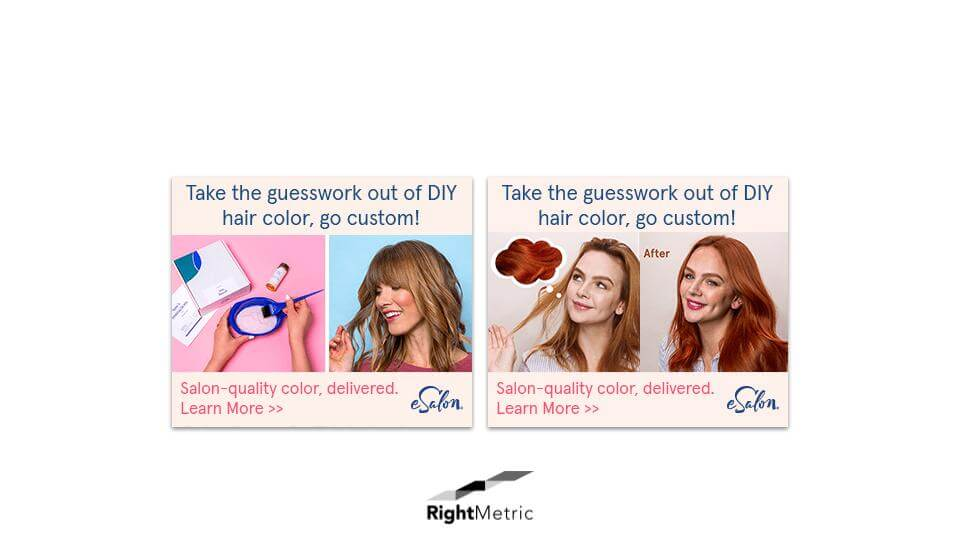 DIY Hair Dye Ad Creatves