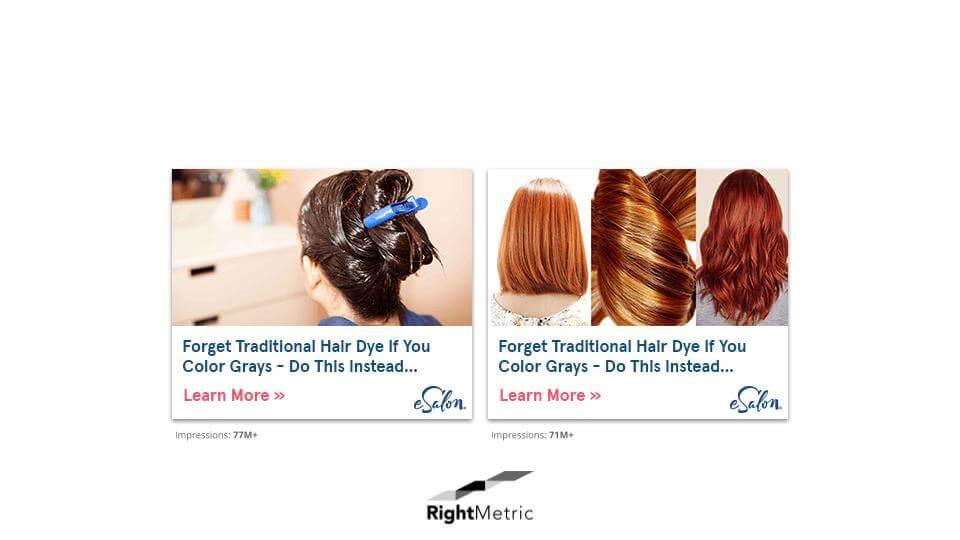 DIY Hair Dye Ad Creatives