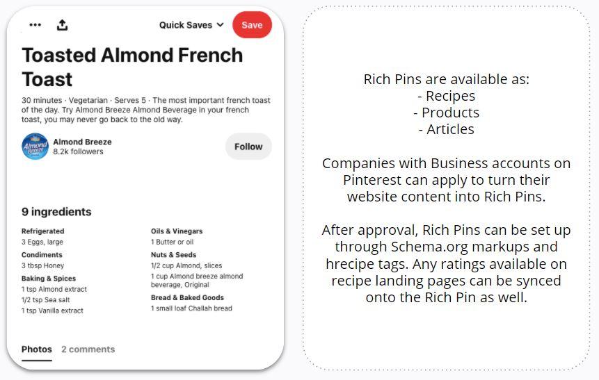 Almond Breeze - Rich Recipe Pin
