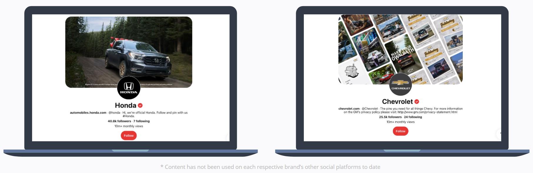 Pinterest - Honda and Chevrolet Story Pins