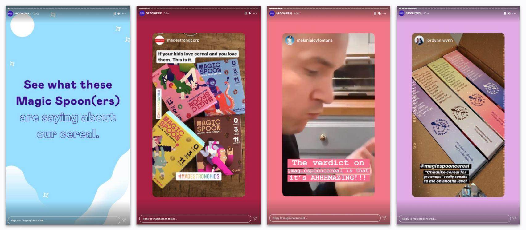 Magic Spoon - Instagram User-Generated Content via IG Stories